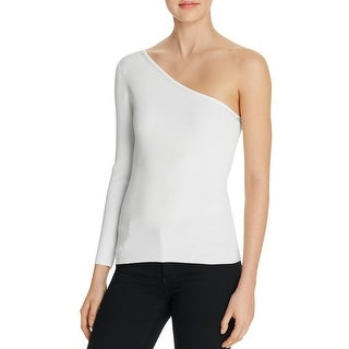 Elizabeth and James Womens Amanda Blouse One Shoulder Ribbed (4 options available)