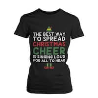 Best Way to Spread Christmas Cheer Graphic Tee-Black Cotton T-Shirt