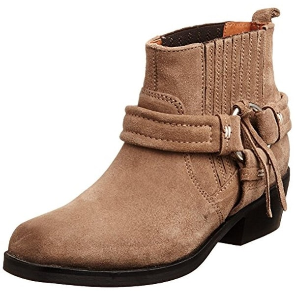 Diesel Womens Harless Ankle Boots Suede Harness