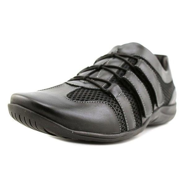 Walking Cradles Audio Women N/S Round Toe Leather Black Walking Shoe