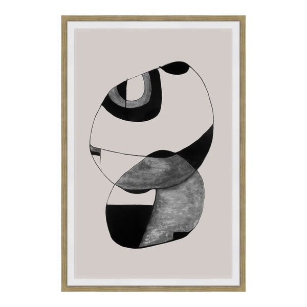 Aurelle Home Modern Abstract Black Ink Wall Decor. Opens flyout.