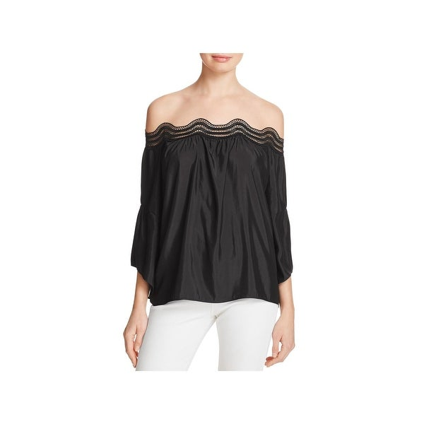 5e7a3bc0cb17b Shop Ramy Brook Womens Priscilla Blouse Lace Trim Off the Shoulder ...