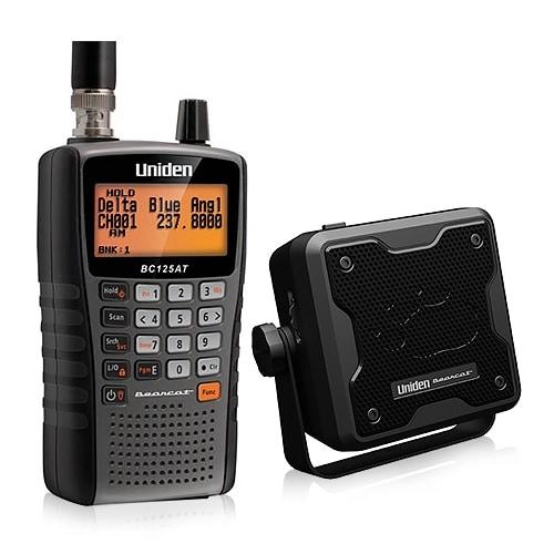 Uniden Bearcat BC125AT Handheld Scanner w/ External Speaker