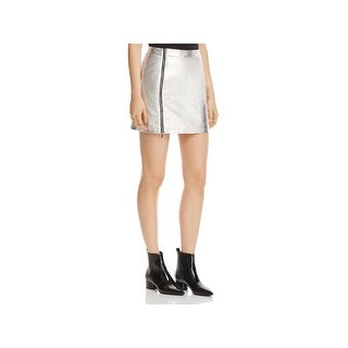 French Connection Womens Audrey Mini Skirt Metallic Night Out