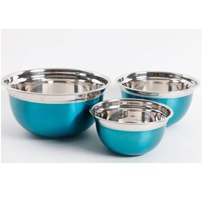 Oster Metallic Red 3-Piece Mixing Bowl Set (Turquoise)