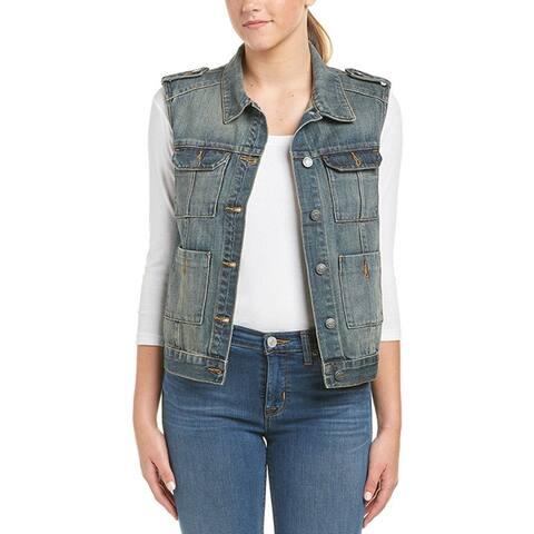 Hidden Jeans Womens Distressed Denim Vest