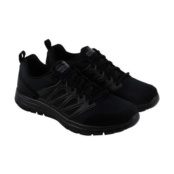 Skechers Flex Advantage Sheaks Mens Black Mesh Athletic Training Shoes