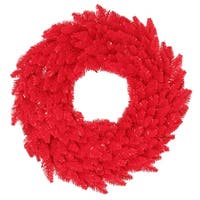 "30"" Red Fir Wreath DuraL LED 100Rd 260T"