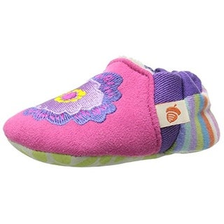 Acorn Embroidered Microsuede Moccasin Slippers - 6-12 mo