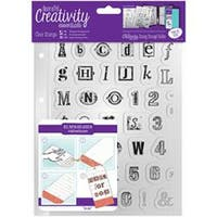 Alphabet - Creativity Essentials A5 Clear Stamps