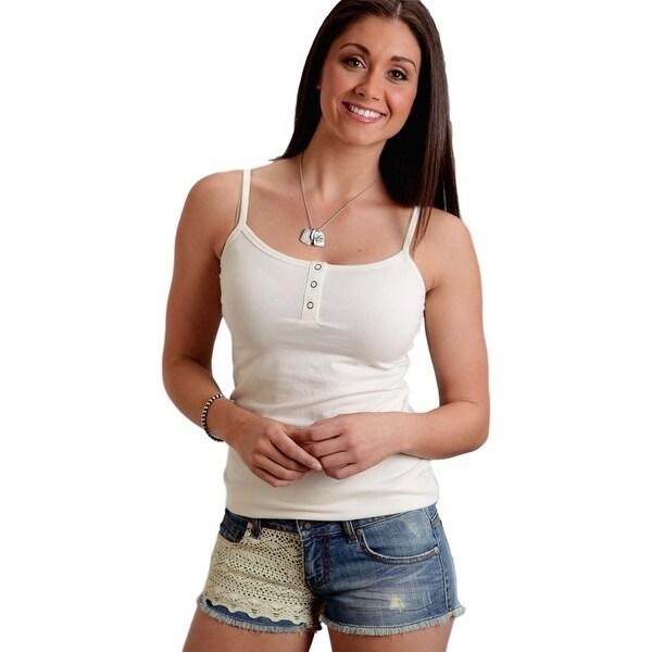 Stetson Western Shorts Womens Lace Boyfriend Blue