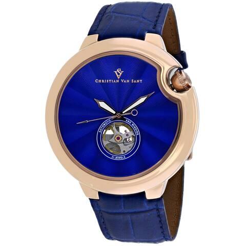 Christian Van Sant Men's Cyclone Automatic Blue Dial Watch - CV0143