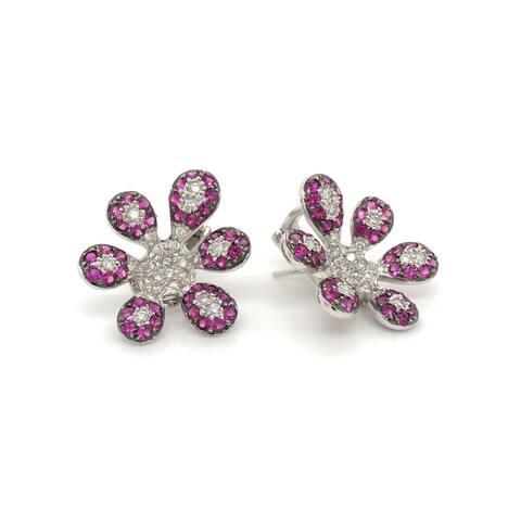 Encore by Le Vian Pink Sapphire 18K White Gold Earrings