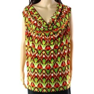 Kasper NEW Green Valencia Women's Size 1X Plus Cowl Neck Tank Blouse
