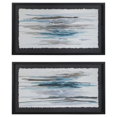 Uttermost Washed Away Contemporary Prints (Set of 2)