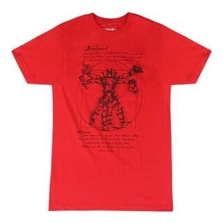 Marvel Vitruvian Deadpool Men's Red T-shirt