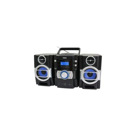 Naxa NPB429 Naxa NPB-429 Mini Hi-Fi System - 16 W RMS - iPod Supported - Black - CD Player - FM - 2 Speaker(s) - CD-DA, MP3 -