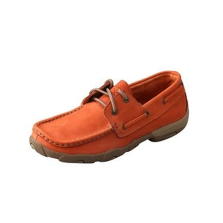 Twisted X Casual Shoes Womens Slip On Driving Mocs Orange WDM0029