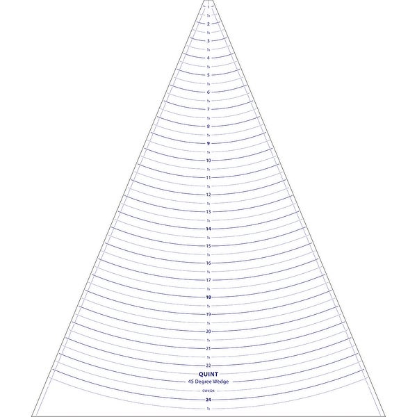 """Circle Wedge-45 Degrees 24"""" Long W/1"""" Measuring"""