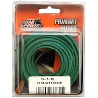 Road Power 56422033 Primary Electrical Wire, 16 Gauge, 24', Green