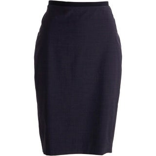 Elie Tahari Womens Maureen Wool Blend Pindot Pencil Skirt