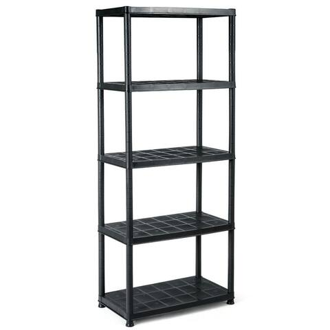 "Gymax 5-Tier Storage Shelving Freestanding Heavy Duty Rack,33.5""L X"