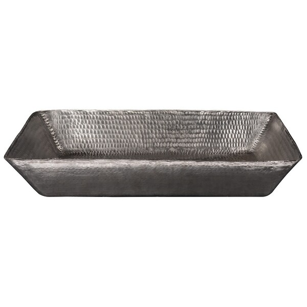 "Premier Copper Products VREC2014EN 20"" Rectangular Copper Vessel Bathroom Sink - Nickel"