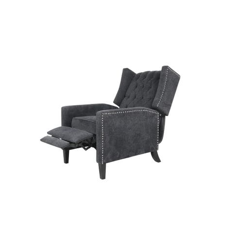 Modern Gery Arm Pushing Recliner Chair
