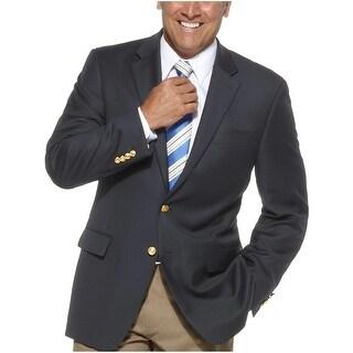 Ralph Lauren RL Wool Sportcoat 42 Long Navy Blue Total Comfort 2 Buttons