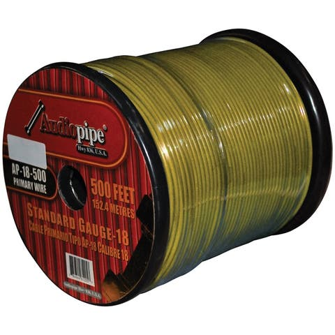 Nippon ap-18-500 ylw remote wire audipipe 18ga 500' yellow