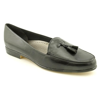 Trotters Leana Women Round Toe Leather Black Loafer