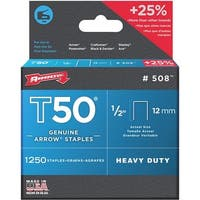 "Arrow Fastener 1/2"" Staple 50824 Unit: EACH Contains 4 per case"