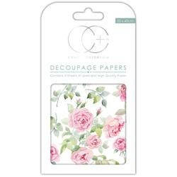 "Bloom Of Roses - Craft Consortium Decoupage Papers 13.75""X15.75"" 3/Pkg"