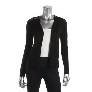 Love Scarlett Womens Cardigan Sweater Zipper Detail Open Front