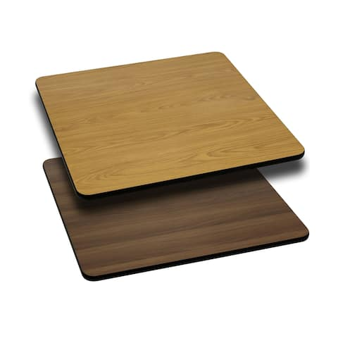 "24"" Square Table Top with Natural or Walnut Reversible Laminate Top"