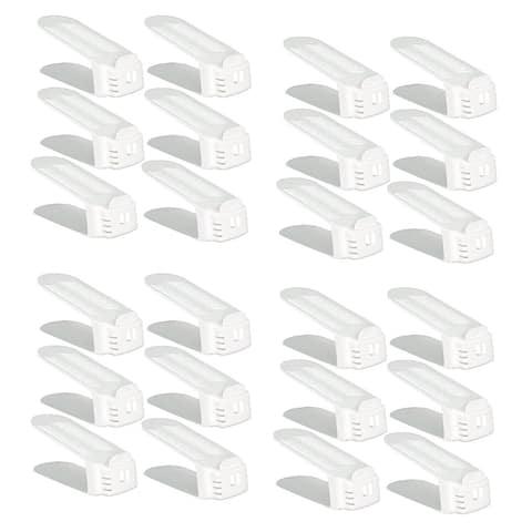 Clear Innovation Shoe Slotz Space Saver, 24 piece set