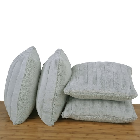 Serenta SuperMink Solid Color Throw Pillow Shell Cushion Cover