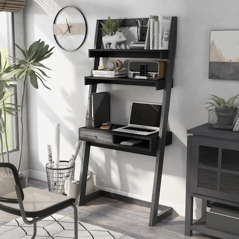 Furniture of America Tali Contemporary 2-tone 32-inch Leaning Writing Desk