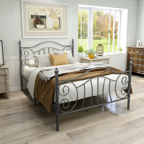 Butterfly Wing Iron Frame Bed
