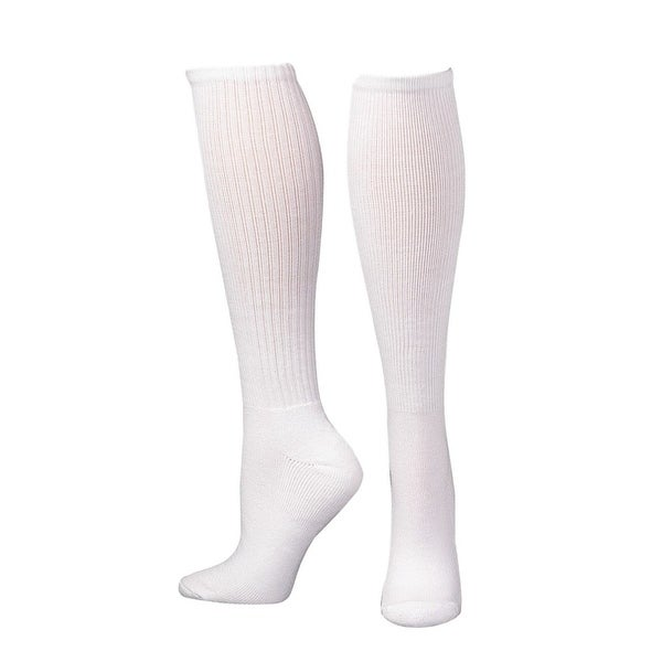 Boot Doctor Socks Mens Over Calf Half Cushion 3 pack White