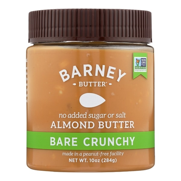 Barney Butter Almond Butter - Bare Crunchy - Case of 6 - 10 oz.