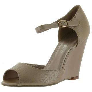 Nature Breeze Womens Melrose-01 Open Toe Sandals