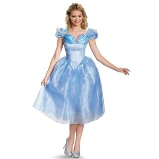 Disney Movie Cinderella Adult Deluxe Costume Large 12-14,Medium 8-10,Small 4-6,X-Large 18-20