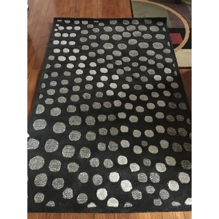 Safavieh Handmade Soho Abstract Wave Dark Grey Wool Rug (3' 6 x 5' 6)