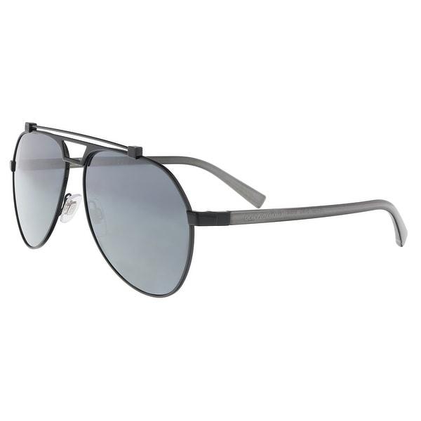 01969dd6663 Dolce  amp  Gabbana DG 2189 01 6G Matte gunmetal  Black Aviator Sunglasses -