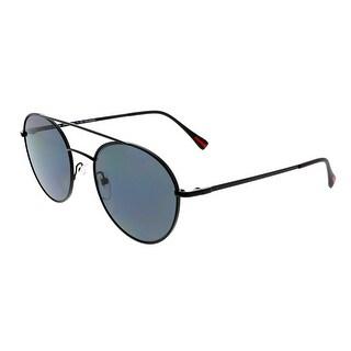 Prada PS51SS 1BO5Z1 Black Round Polarized Sunglasses - 51mm - 54-20-140