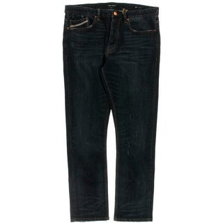 Chip Foster Mens Distressed Whisker Wash Skinny Jeans