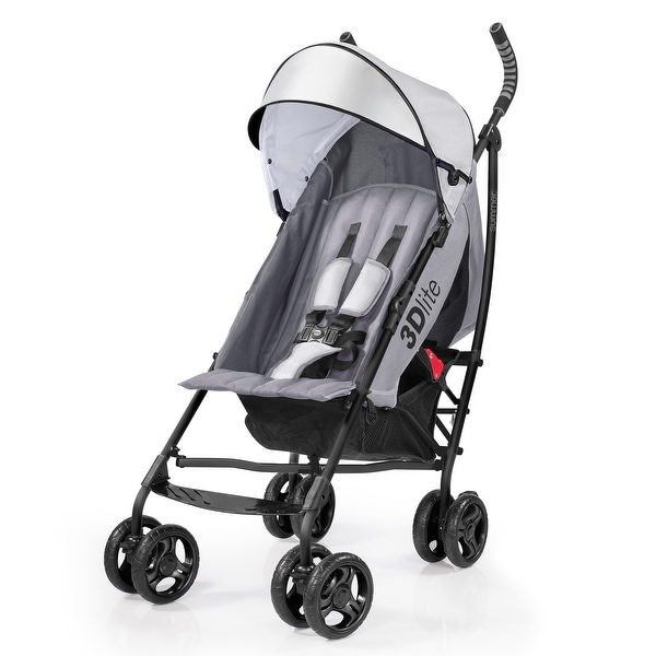 Summer 3Dlite Convenience Stroller, Gray - 27 x 18 x 43 inches. Opens flyout.