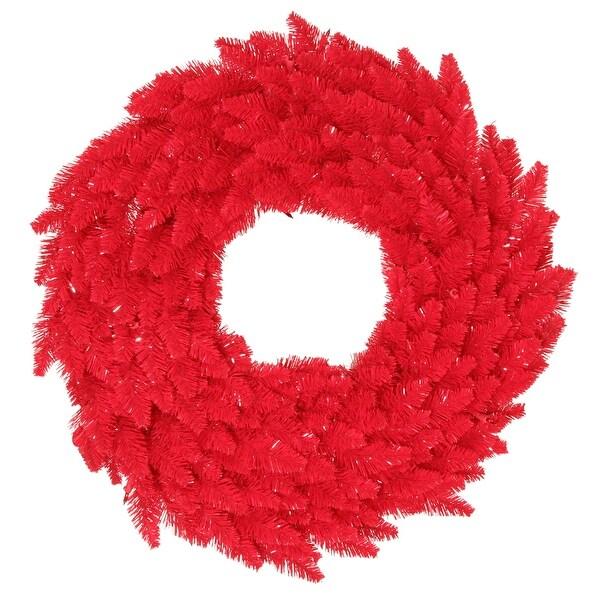 """30"""" Red Fir Wreath DuraL LED 100Rd 260T"""
