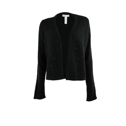 Charter Club Women's Sequined Multi Knit Cardigan